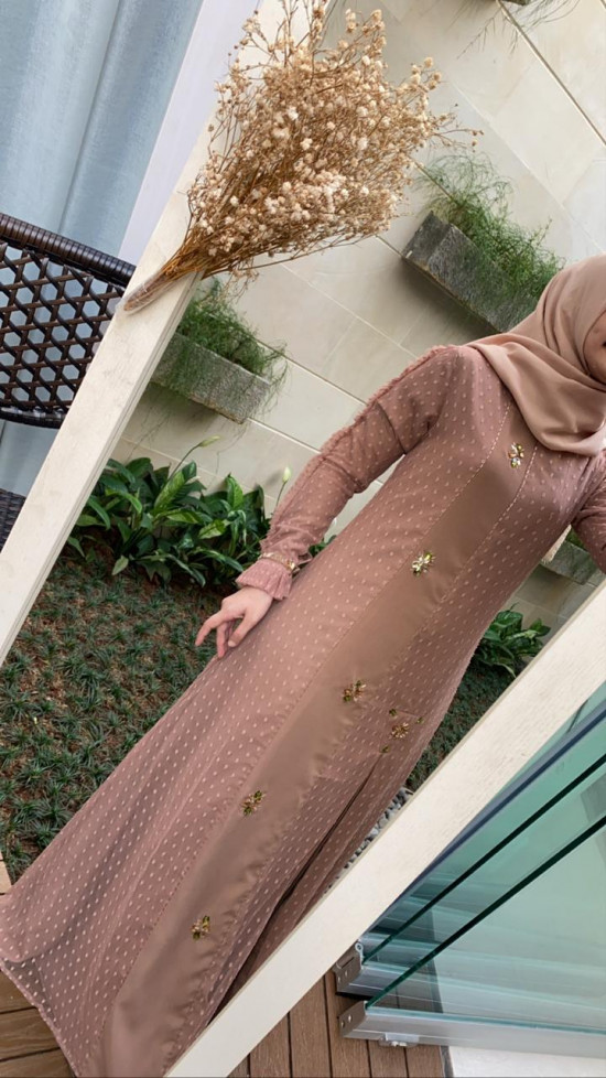 ALEENA DRESS SALEM COKLAT S