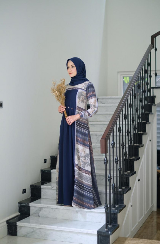 SILVIA DRESS NAVY XL